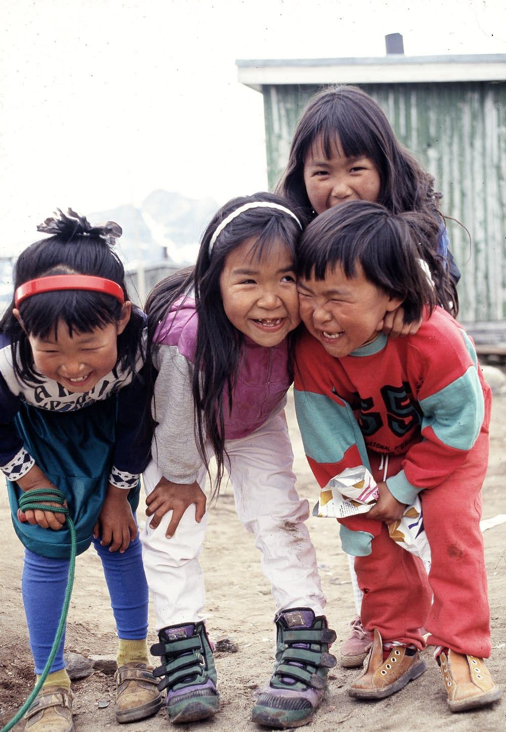 Children in Kungmiut, East Greenland 1993