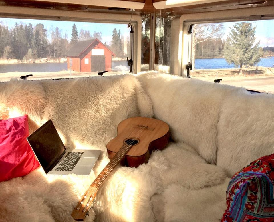 Guitar in a mobile home