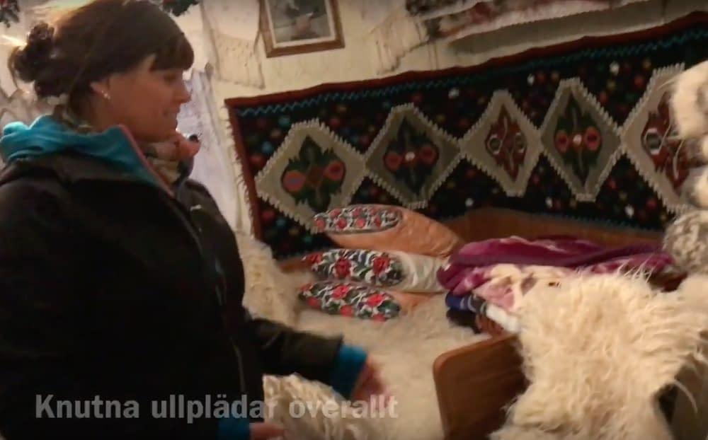 Traditional home Calinesti, Romania