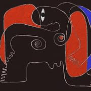 Teckning röd kvinna