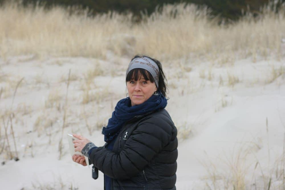 Lettisk strand om vintern
