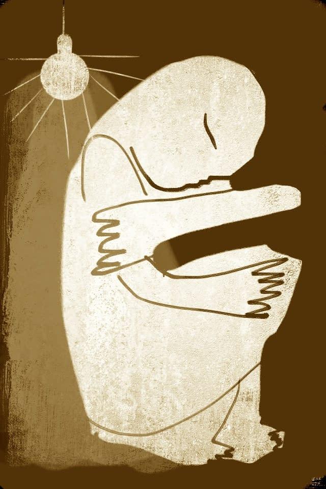 Illustration Malin Skinnar, sad days