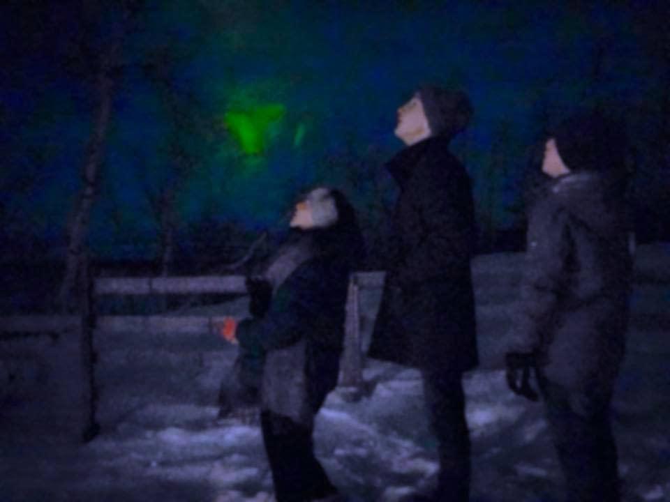 Grönt sken med nattkamera