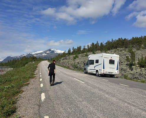 Mobile home studio in Laponia