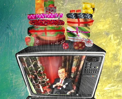 Arne Weise - TV Icon, Sweden, illustration Malin Skinnar
