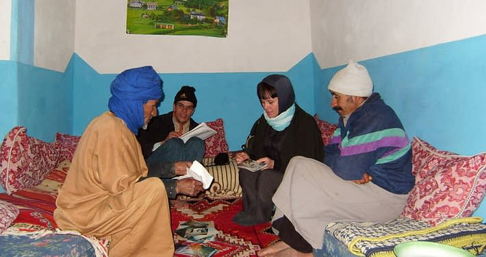 Trekking guide in the Atlas mountains