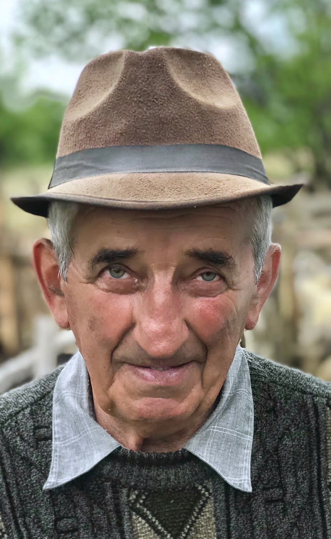 Gospodar Ioan Cupsa, Cupseni, Carpaths, Romania Portrait by Malin Skinnar