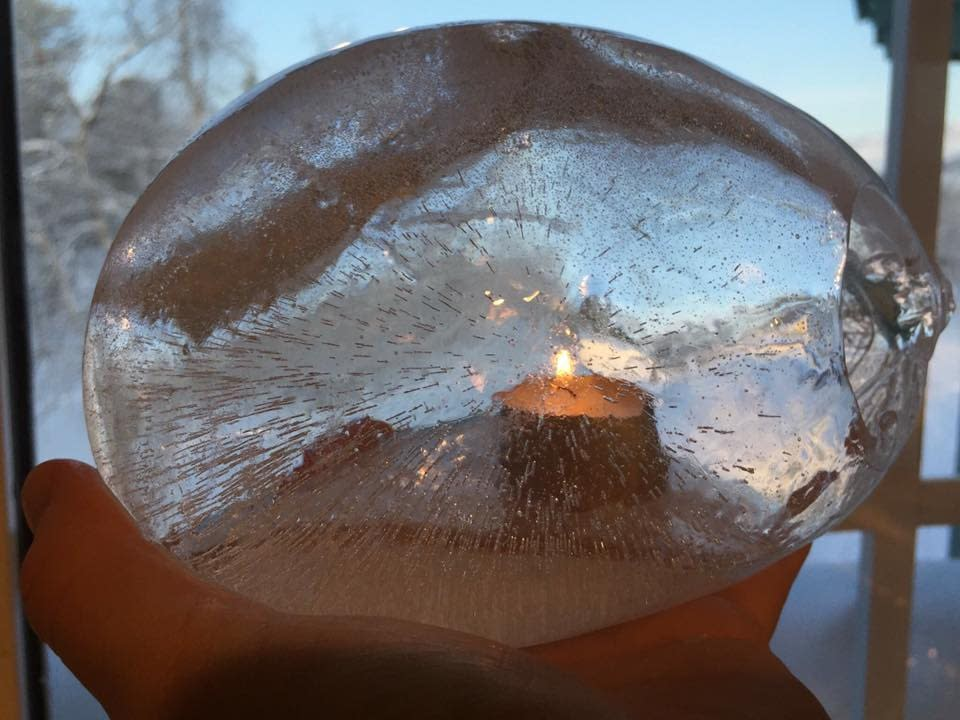 Ice art in Sweden