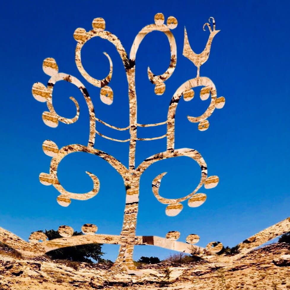 Brass & glass scultpture