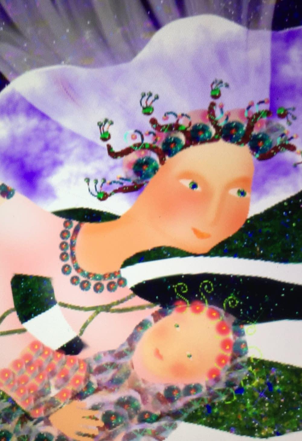 Lullaby from Greece, illustration Malin Skinnar