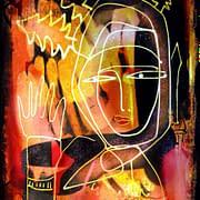 Människans spår. Teckning av Malin Skinnar från Rumänien.