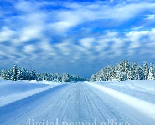 Swedish road winter time
