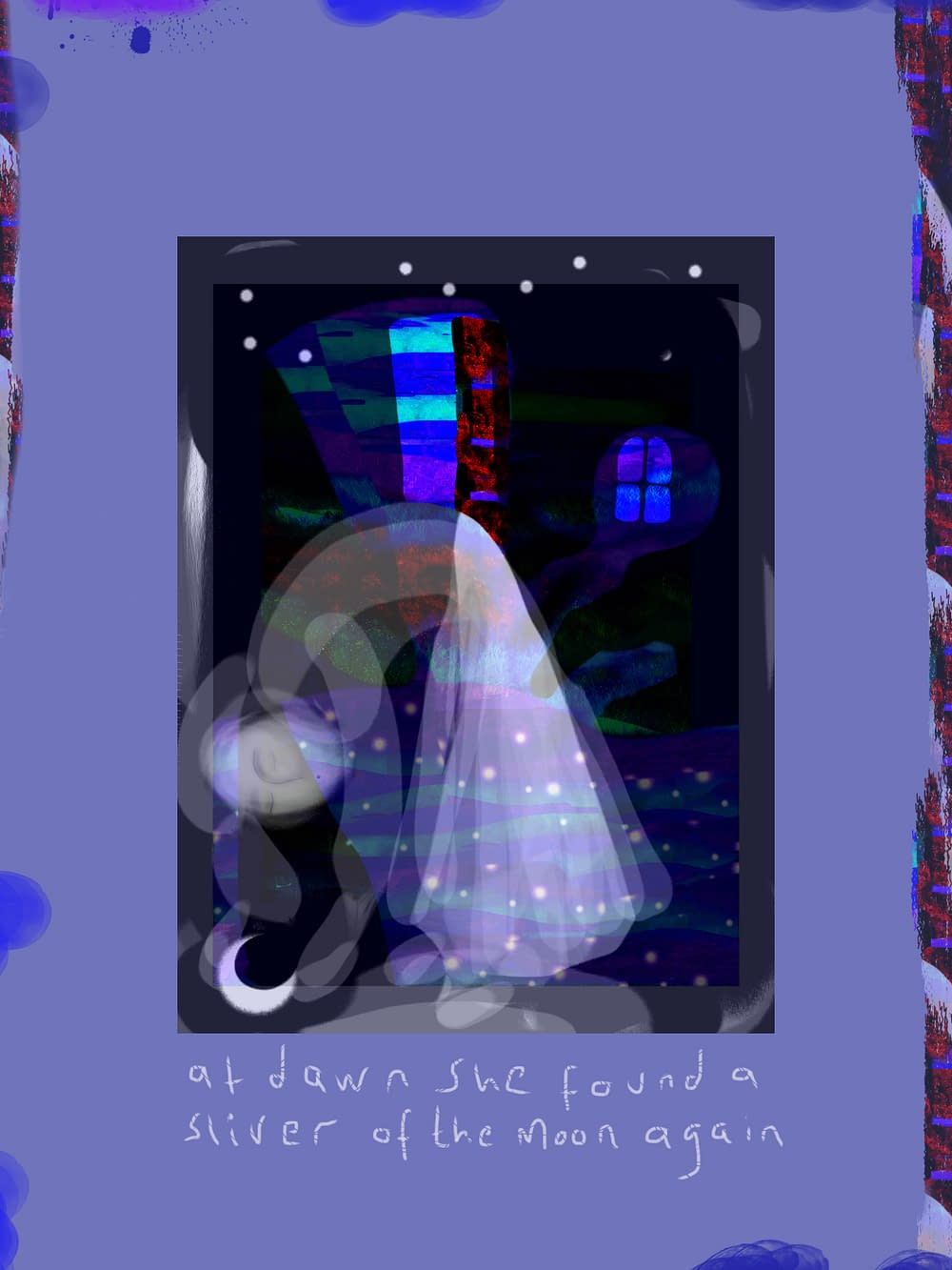 Illustration Malion Skinnar The moon was broken