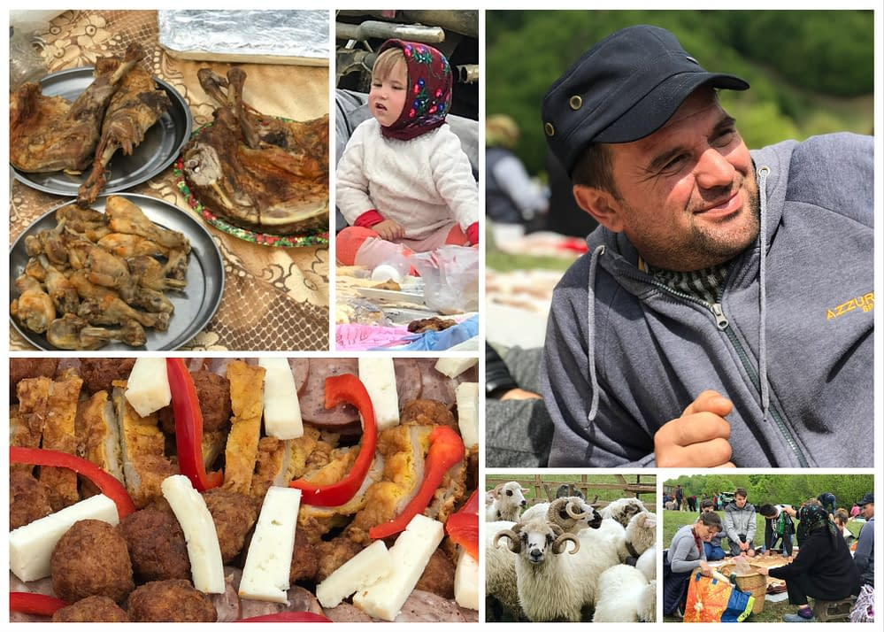 Picknick with sheep farmers