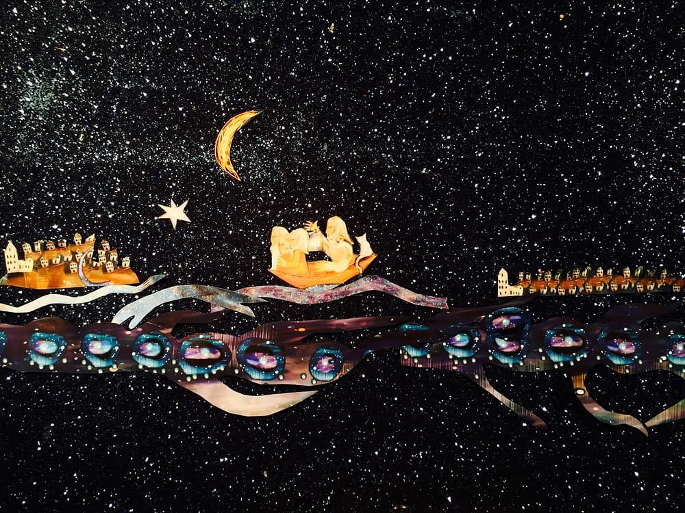 Illustration av Malin Skinnar, kollage