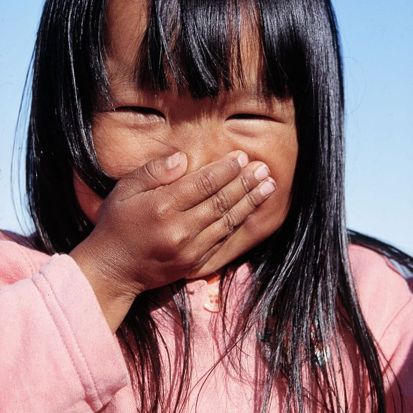 Child in East Greenland Sermiligaq, photo Malin Skinnar