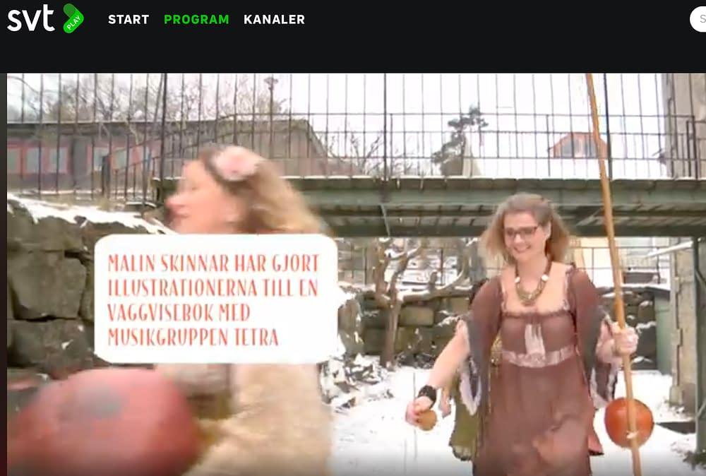 Sånggruppen Tetras samarbete med Malin blev Tussa Lulla Vaggvisebok