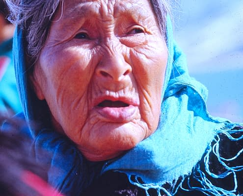 Inuit Woman, Ikateq Greenland, 1993, Photo Malin Skinnar