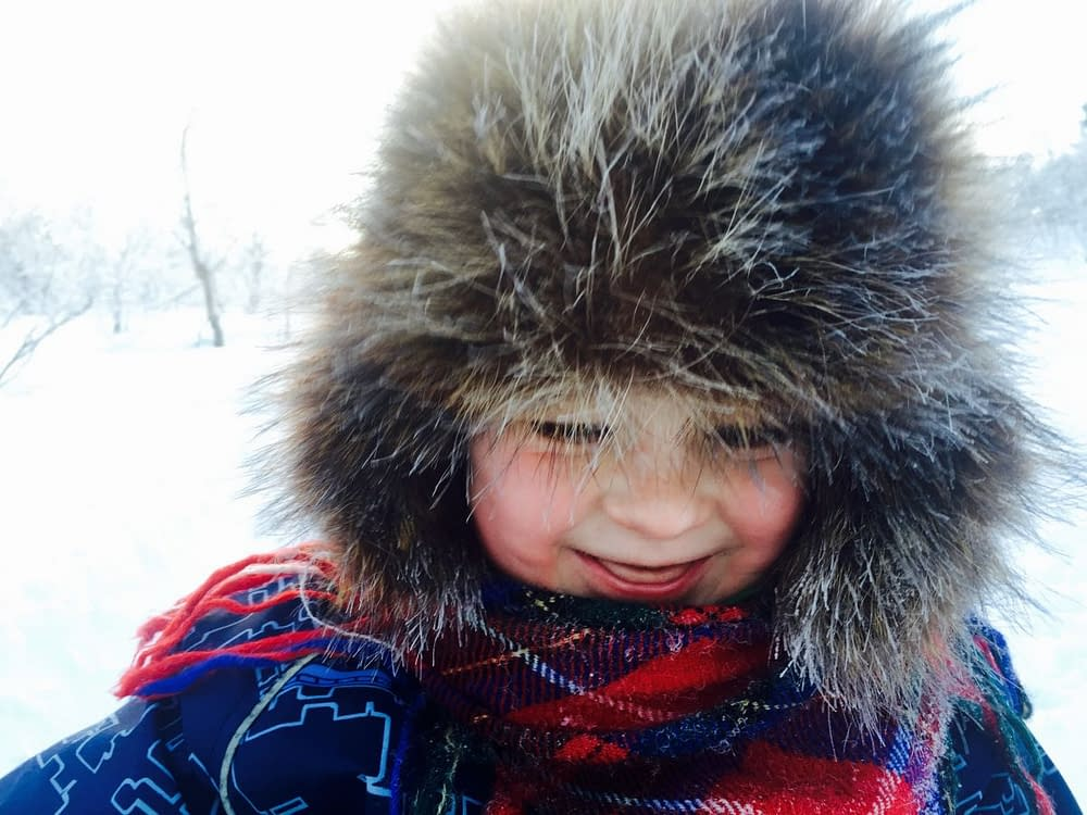 Barn i Lappland