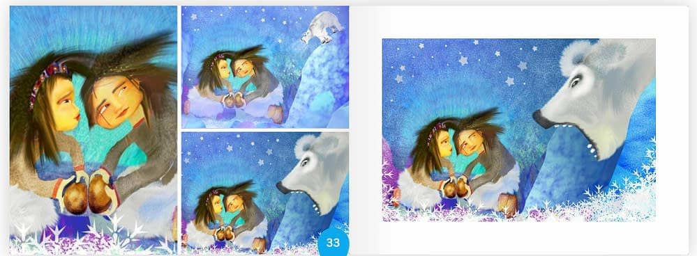 Children´s book about the polar bear and two kids in Greenland by M Skinnar and I Karpsten