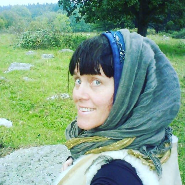 Malin Skinnar, swedish storyteller in Romania