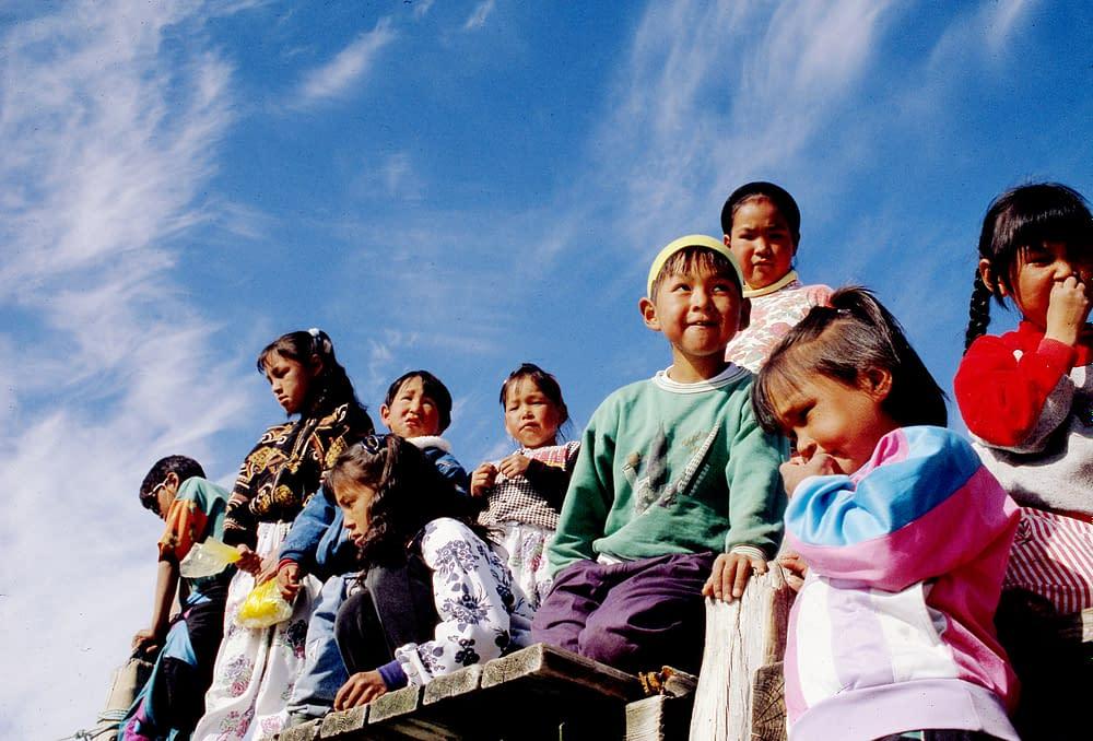 Children in Sermiligaaq, 1993, Greenland