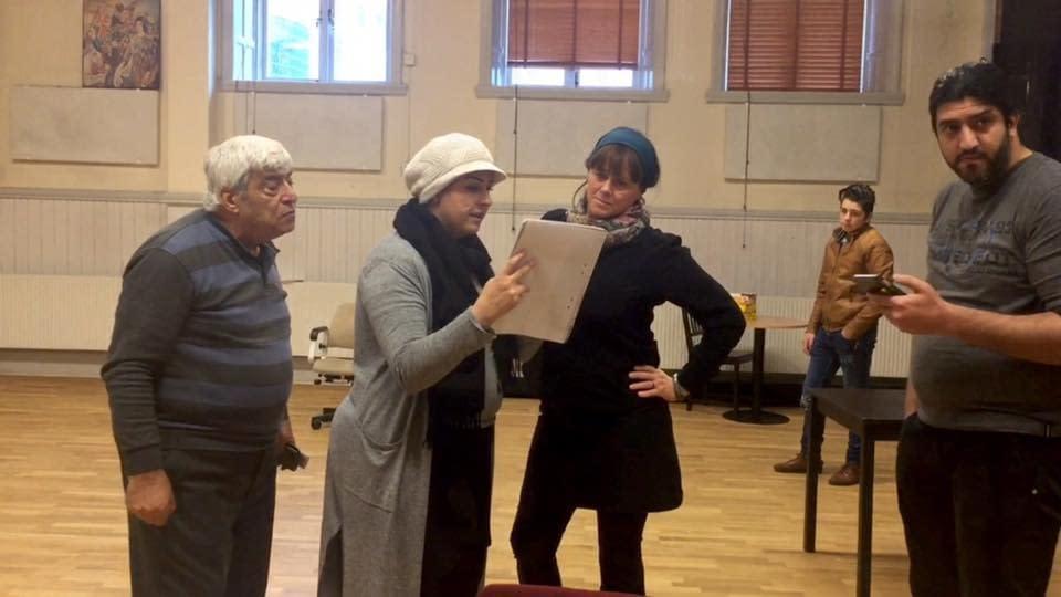 Mohamad Kheir Alaliwis teatergrupp