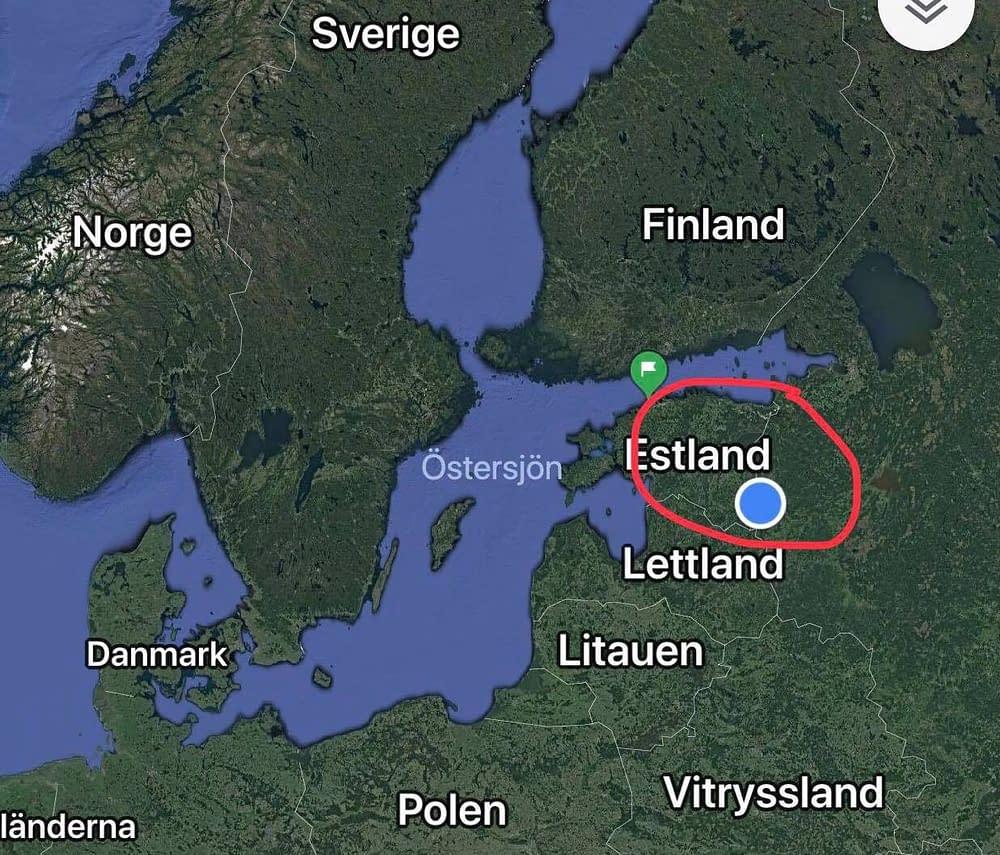 Estonia, Värska, Setomaa map