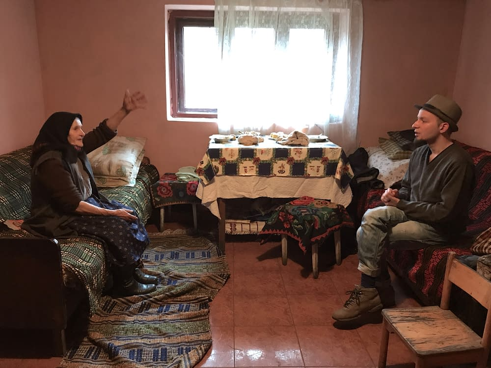 Doina singer Teodora Purja with folklorist Alex Ilea, Agries, Romania