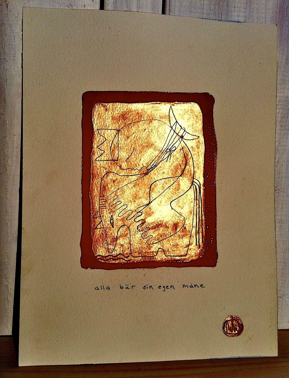 """Print by Malin Skinnar """"everyone carries their own moon"""""""