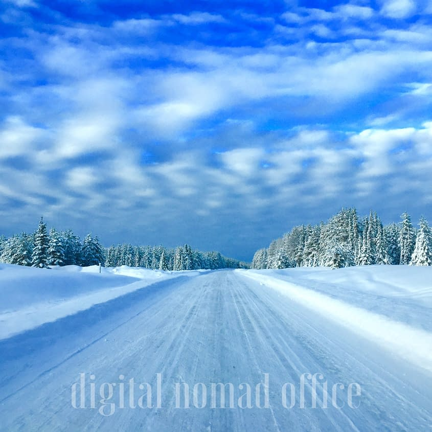 Swedish road winter time