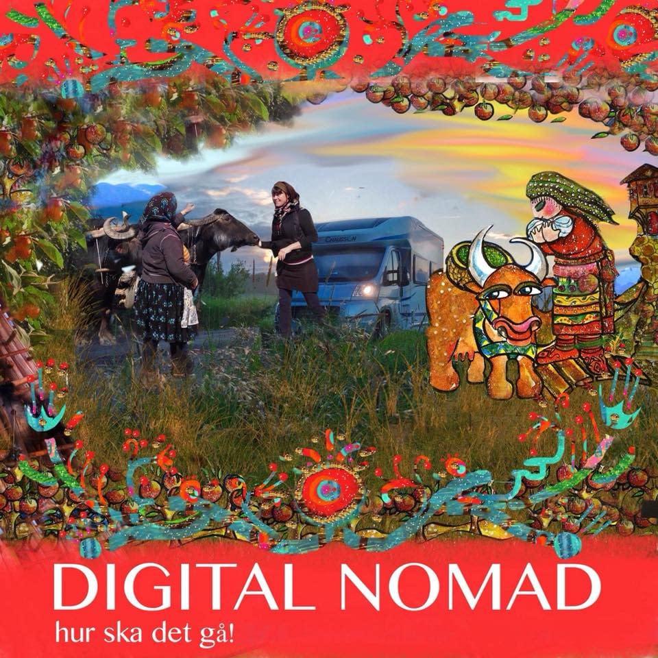 Digital Nomad - Vad hände sen, illustration malin Skinnar