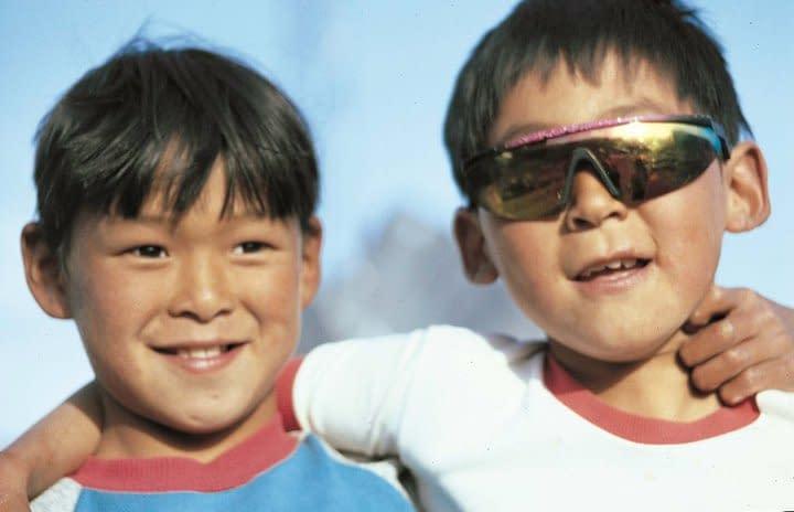 Inuit boys, east Greenland